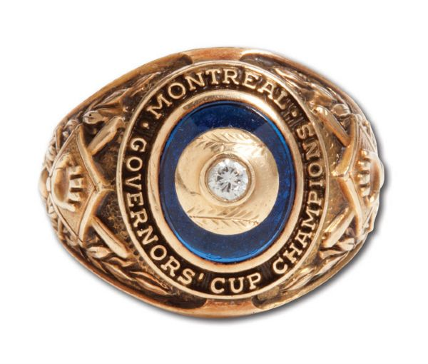 1951 MONTREAL ROYALS 10K GOLD INTERNATIONAL LEAGUE CHAMPIONSHIP RING (MAL MALLETTE)