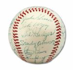 HIGH-GRADE 1954 BROOKLYN DODGERS TEAM SIGNED BASEBALL