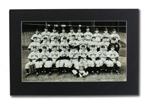 "INCREDIBLE 1938 NEW YORK YANKEES (WORLD CHAMPIONS) LARGE FORMAT 19"" BY 11"" TEAM SIGNED PHOTOGRAPH (JOHNNY MURPHY COLLECTION)"
