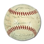 1937 AMERICAN LEAGUE ALL-STAR TEAM SIGNED BASEBALL (JOHNNY MURPHY COLLECTION)