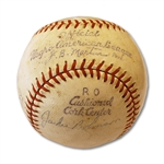 JACKIE ROBINSON AND OTHERS AUTOGRAPHED OFFICIAL NEGRO AMERICAN LEAGUE BASEBALL
