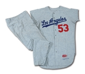 DON DRYSDALES 1965 LOS ANGELES DODGERS (WORLD CHAMPIONSHIP SEASON) GAME WORN ROAD UNIFORM (DRYSDALE COLLECTION)