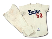 DON DRYSDALES 1965 LOS ANGELES DODGERS (WORLD CHAMPIONSHIP SEASON) GAME WORN HOME UNIFORM (DRYSDALE COLLECTION)