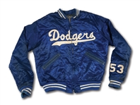 DON DRYSDALES CIRCA 1956 BROOKLYN DODGERS GAME WORN WARM UP JACKET (DRYSDALE COLLECTION)