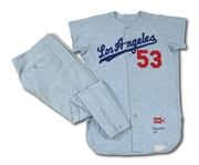 DON DRYSDALES 1966 LOS ANGELES DODGERS GAME WORN ROAD UNIFORM