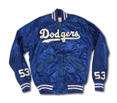 DON DRYSDALES CIRCA LATE 1950S-EARLY 60S LOS ANGELES DODGERS GAME WORN WARM UP JACKET (DRYSDALE COLLECTION)