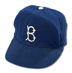 DON DRYSDALES CIRCA 1956 BROOKLYN DODGERS GAME WORN CAP (DRYSDALE COLLECTION)