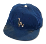 DON DRYSDALES CIRCA 1958 LOS ANGELES DODGERS GAME WORN CAP (DRYSDALE COLLECTION)