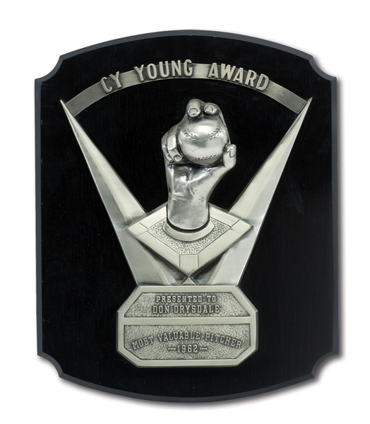 DON DRYSDALES 1962 MAJOR LEAGUE BASEBALL CY YOUNG AWARD (DRYSDALE COLLECTION)