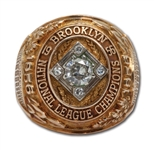 DON DRYSDALES 1956 BROOKLYN DODGERS NATIONAL LEAGUE CHAMPIONS 10K GOLD RING (DRYSDALE COLLECTION)