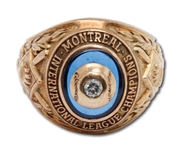 DON DRYSDALES 1955 MONTREAL ROYALS INTERNATIONAL LEAGUE (AAA) CHAMPIONS 10K GOLD RING (DRYSDALE COLLECTION)