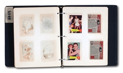 1957-58 TOPPS BASKETBALL ORIGINAL ARCHIVES FILE SETS (2 COMPLETE SETS)