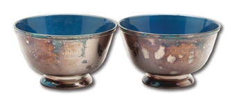 DON DRYSDALES PAIR OF 1963 AND 1965 WORLD SERIES GIFT PRESENTATION BOWLS (DRYSDALE COLLECTION)