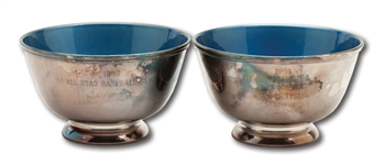 DON DRYSDALES PAIR OF 1964 AND 1965 MLB ALL STAR GAME PARTICIPATORY AWARD BOWLS (DRYSDALE COLLECTION)