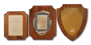DON DRYSDALES TRIO OF 1965-69 BASEBALL AWARD PLAQUES FROM LOCAL SOUTHERN CALIFORNIA ORGANIZATIONS (DRSYDALE COLLECTION)