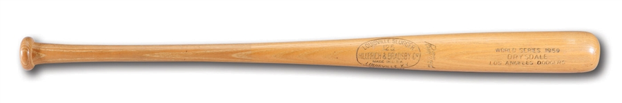DON DRYSDALES 1959 WORLD SERIES GAME READY LOUISVILLE SLUGGER PROFESSIONAL MODEL BAT (DRYSDALE COLLECTION)