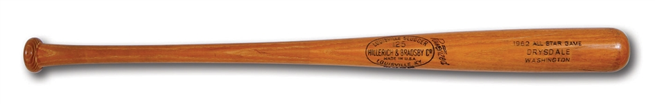 DON DRYSDALES JULY 10, 1962 ALL-STAR GAME USED LOUISVILLE SLUGGER PROFESSIONAL MODEL BAT (DRYSDALE COLLECTION)