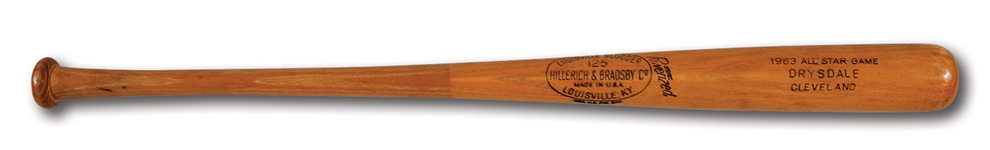 DON DRYSDALES JULY 9, 1963 ALL-STAR GAME READY LOUISVILLE SLUGGER PROFESSIONAL MODEL BAT (DRYSDALE COLLECTION)