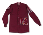 DON DRYSDALES 1954 SENIOR YEAR LETTERMANS SWEATER FROM VAN NUYS (CA) HIGH SCHOOL (DRYSDALE COLLECTION)