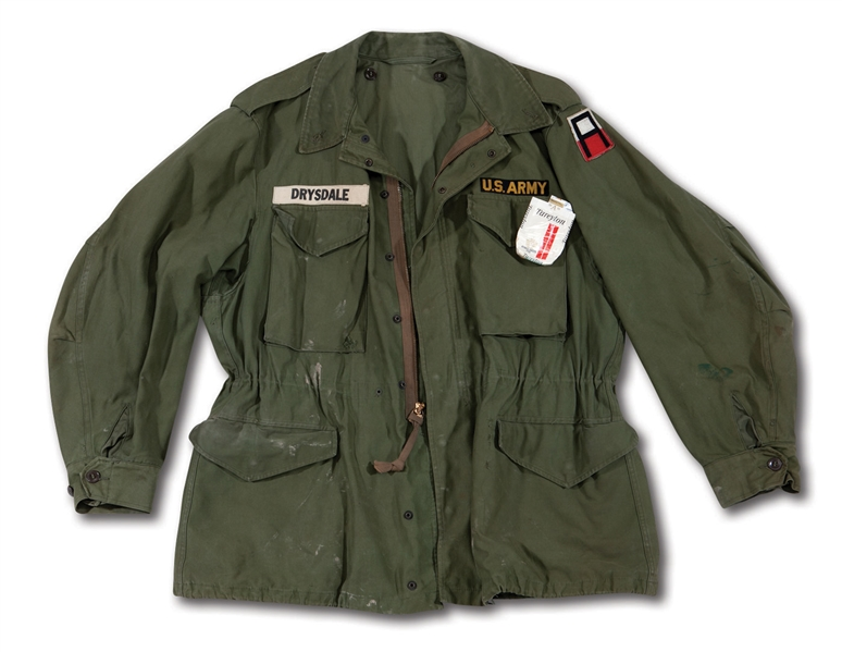 DON DRYSDALES 1957-58 U.S. ARMY WORN FIELD JACKET (DRYSDALE COLLECTION)