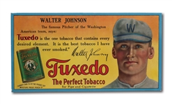 C.1910 WALTER JOHNSON TUXEDO TOBACCO ADVERTISING SIGN