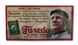 C.1910 JOHN MCGRAW TUXEDO TOBACCO ADVERTISING SIGN