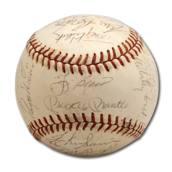 DON DRYSDALES 1963 NEW YORK YANKEES AMERICAN LEAGUE CHAMPION TEAM SIGNED BASEBALL (DRYSDALE COLLECTION)