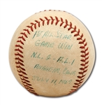 7/11/1967 DON DRYSDALE GAME USED BASEBALL FROM HIS FIRST ALL-STAR GAME VICTORY (DRYSDALE COLLECTION)