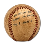 DON DYRSDALES 4/22/1954 GAME USED BASEBALL FROM HIS NO-HITTER FOR VAN NUYS HIGH SCHOOL AGAINST HOLLYWOOD H.S. (DRYSDALE COLLECTION)