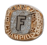 1997 FLORIDA MARLINS WORLD SERIES CHAMPIONS 10K GOLD STAFF RING