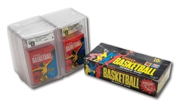 1971-72 TOPPS BASKETBALL UNOPENED 24 COUNT WAX BOX WITH ALL PACKS GAI GRADED
