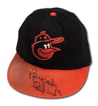 1960S BROOKS ROBINSON AUTOGRAPHED BALTIMORE ORIOLES GAME WORN CAP (DELBERT MICKEL COLLECTION)