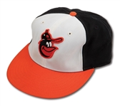 1985-87 CAL RIPKEN JR. AUTOGRAPHED BALTIMORE ORIOLES GAME WORN CAP (DELBERT MICKEL COLLECTION)