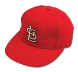 C.1993 OZZIE SMITH AUTOGRAPHED ST. LOUIS CARDINALS GAME WORN CAP (DELBERT MICKEL COLLECTION)