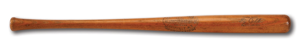 1923-25 TY COBB GAME USED H&B PROFESSIONAL MODEL BAT (MEARS A6)