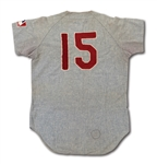1969 RICHIE ALLEN AUTOGRAPHED PHILADELPHIA PHILLIES GAME WORN ROAD JERSEY (DELBERT MICKEL COLLECTION)