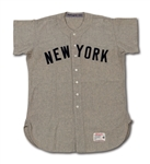 1959 GIL MCDOUGALD NEW YORK YANKEES GAME WORN ROAD JERSEY (DELBERT MICKEL COLLECTION)