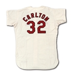 1968 STEVE CARLTON AUTOGRAPHED ST. LOUIS CARDINALS GAME WORN HOME JERSEY (DELBERT MICKEL COLLECTION)
