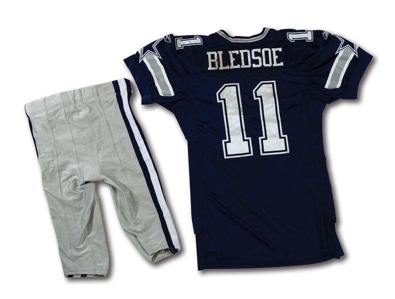 ca00dd6add1 2005 DREW BLEDSOE DALLAS COWBOYS GAME WORN JERSEY AND PANTS (NSM COLLECTION)