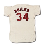 1970 NELSON BRILES ST. LOUIS CARDINALS GAME WORN HOME JERSEY (DELBERT MICKEL COLLECTION)