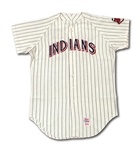 1970 DENNIS HIGGINS CLEVELAND INDIANS GAME WORN HOME JERSEY - ONE-YEAR STYLE (DELBERT MICKEL COLLECTION)