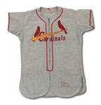 1954 WALLY MOON ST. LOUIS CARDINALS (ROOKIE OF THE YEAR SEASON) GAME WORN ROAD JERSEY (DELBERT MICKEL COLLECTION)