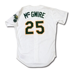 1988 MARK MCGWIRE OAKLAND ATHLETICS GAME WORN HOME JERSEY (DELBERT MICKEL COLLECTION)