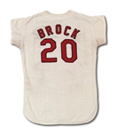 1967 LOU BROCK ST. LOUIS CARDINALS (CHAMPIONSHIP SEASON) GAME WORN HOME JERSEY (DELBERT MICKEL COLLECTION)