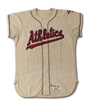 1958 CARL DUSER KANSAS CITY ATHLETICS GAME WORN HOME JERSEY (DELBERT MICKEL COLLECTION)