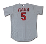 2003 ALBERT PUJOLS ST. LOUIS CARDINALS GAME WORN ROAD JERSEY (ASI, DELBERT MICKEL COLLECTION)