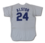 1974 WALTER ALSTON LOS ANGELES DODGERS GAME WORN MANAGERS ROAD JERSEY (DELBERT MICKEL COLLECTION)