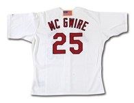 2001 MARK MCGWIRE AUTOGRAPHED ST. LOUIS CARDINALS (FINAL SEASON) GAME WORN HOME JERSEY (STEINER, MLB AUTH., DELBERT MICKEL COLLECTION)