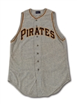 1958 HANK FOILES PITTSBURGH PIRATES GAME WORN ROAD JERSEY (DELBERT MICKEL COLLECTION)