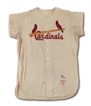 1957 KEN BOYER ST. LOUIS CARDINALS GAME WORN HOME JERSEY (DELBERT MICKEL COLLECTION)